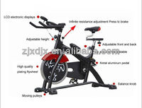 18 kgs heavy flywheel racing indoor cycle trainer exercise bike DL-1100