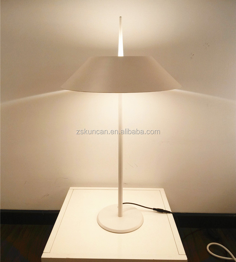 Matt white finish umbrella shape led table standing lamps