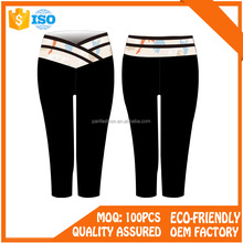 Low Price work out slimming jogging fitness yoga capri pants manufacture wholesale