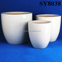 wholesale good size white ceramic flower pot