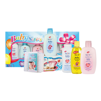 6pcs Baby Bath Gift Set With Baby Care