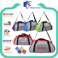 Wellpromotion promotional cheap polo classic sports folding travel bag