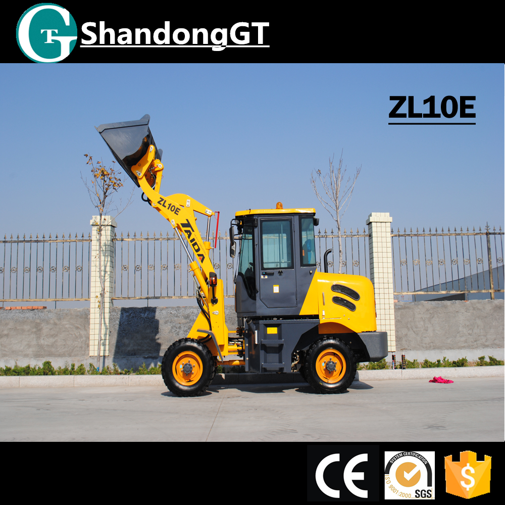 Low Price Chinese GT 40HP 0.5CBM Bucket Used Bobcat Wheel Type Mini Skid Steer Loader For Sale