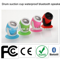 new 2015 mini waterproof wireless bluetooth speaker vibration speaker with sticker For iphone