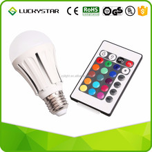 Color Changing Dimmable Lamp RGB 4W LED Light Bulb E27 Standard Screw Base Remote