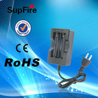 Supfire 18650 lithium-ion battery dual-slot charger