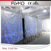 flexible charming led star curtain for event stage decorations
