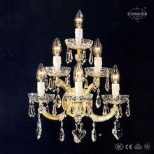 gold color european traditional crystal Hotel wall lamps ETL20019
