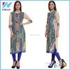 Latest Clothing Printed Long Rayon Kurti Designs