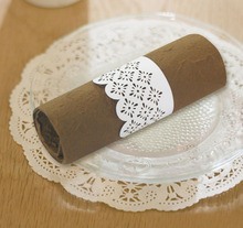 NR1101-08 <strong>wedding</strong> favors paper cutting napkin rings/towel napkin for restaurant/hotel