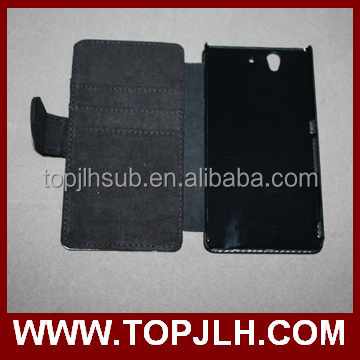 Sublimated PU Leather Wallet Stand Case Cover For Sony Xperia Z L36H