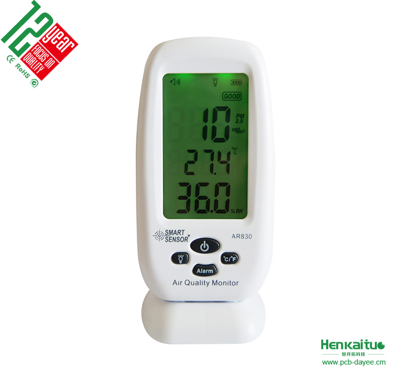 AR830 Digital Temperature Humidity Pm2.5 Detector Air Quality Monitor