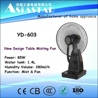 Table Water Mist Fan Type and ABS,Plastic Material Water Spray Fan
