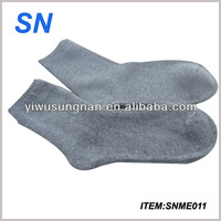top sale 100% cotton custom plain terry socks men
