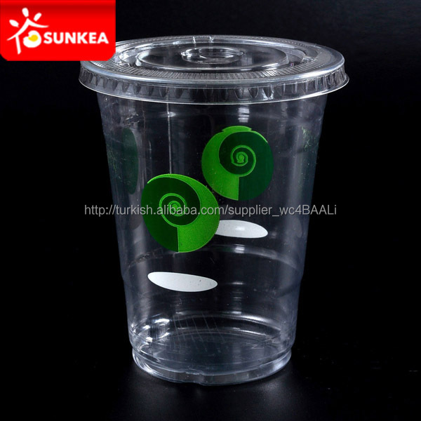 Clear plastic straw cup with lid