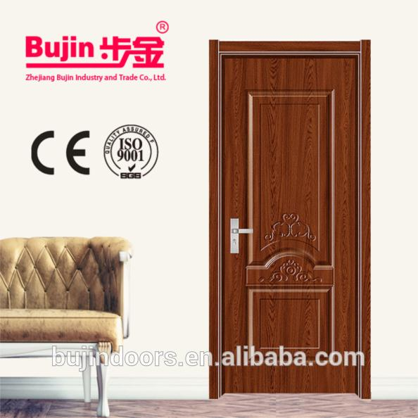 Latest design New panel simple design solid wooden doors painting interior modern wood doors wholesale