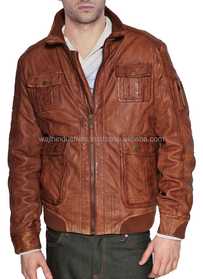 2014 winter fashion leather jacket for men bulletproof leather jacket234