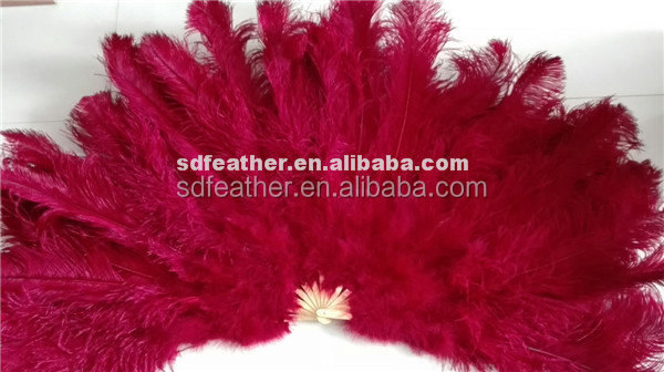 2016 Best Selling Beautiful Dance Fan Large Ostrich Feather Fan