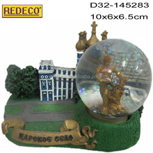 Custom tall building water globe,snow globe,resin water globe for gifts