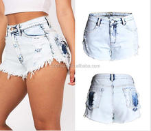 Z55808B latest design women jeans shorts denim ladies shorts