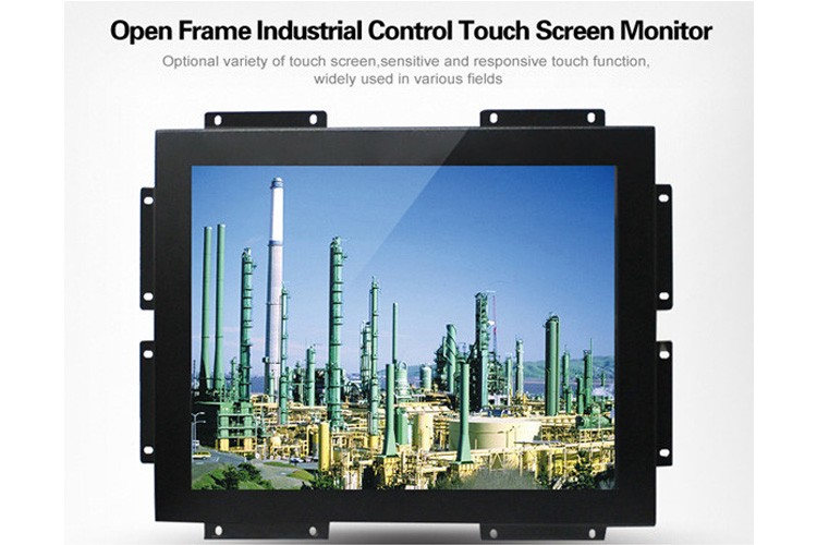 Industrial grade 17 inch touch screen metal casing monitor