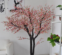 Pink color wedding decoration wedding artificial tree branches indoor cherry blossom tree flowers