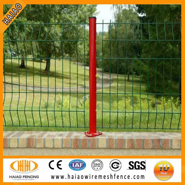 3D curves hot sale high quality 4x4 galvanized square posts wire metal fence panels,cheap sheet metal fence panels