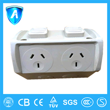 Twin PowerPoint waterproof Australia standard CE certified electrical socket outlet
