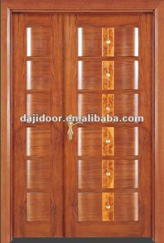 Special Raised Panel Main Wooden Doors Design Side Lite DJ-S8514SO
