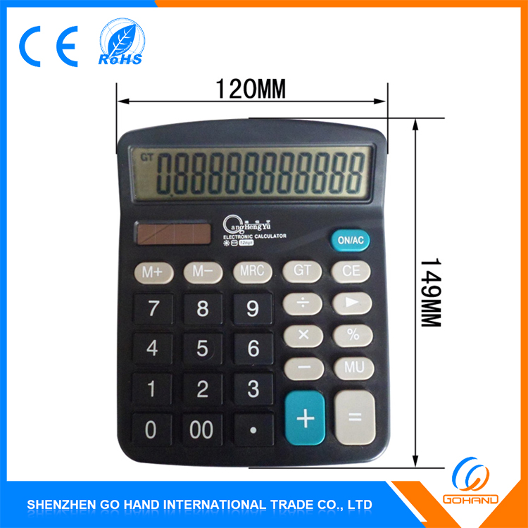 High Quality Gift Big Size 12-Digit Dual Power Desktop Office Calculator