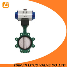 Cast Iron Semi Lug Pneumatic Actuator Butterfly Valve