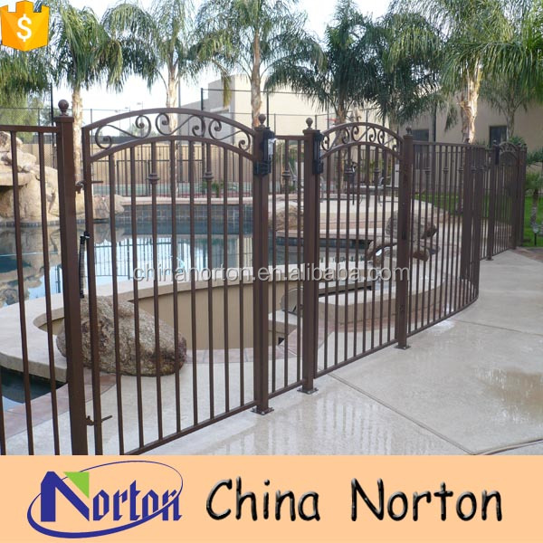 Norton pool protection remarkable rod iron fencing and gates NT-WIY070