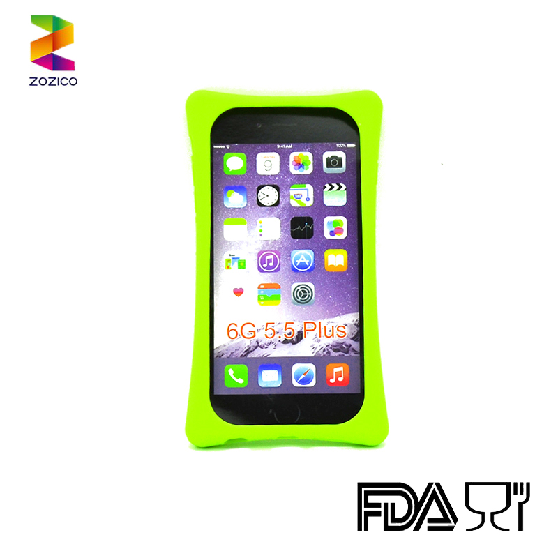 Customized silicone phone cover case for iphone 6 plus