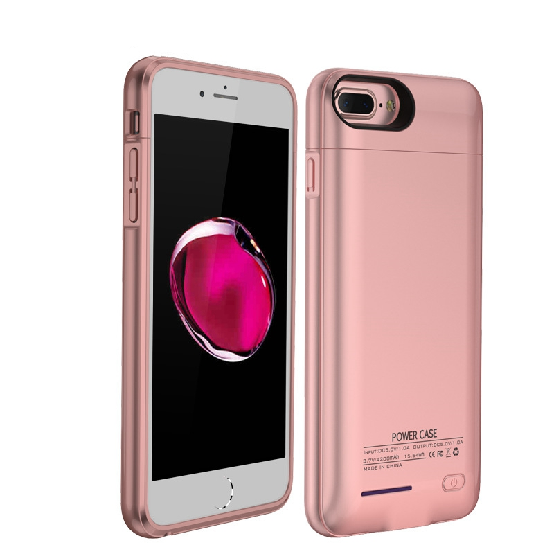 4200mAh Battery Case Automatic Magnetic Portable Extended backup Slim Smart Power Charging Case for iPhone7 plus, 6 plus