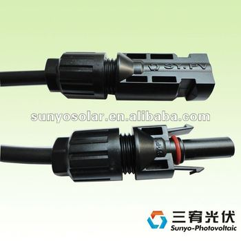 IP68 MC4 Connector Solar Extension Cable TUV Approved PV Cable Solar Panel Connector For Solar Energy Home System