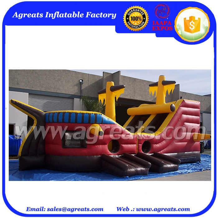 China factory inflatable boat jumper, pirate-ship bouncer for sale G3001