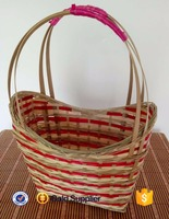 2016 cheap price recycled bamboo hanging vegetable basket