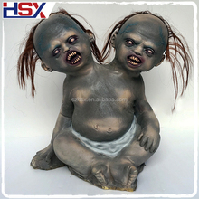 Hot Popular Horror Two Heads Baby Zombie For Haunted House Decoration Halloween Animated Props