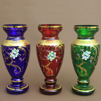 Beautiful Colorful Antique Glass Vase For Home Decoration