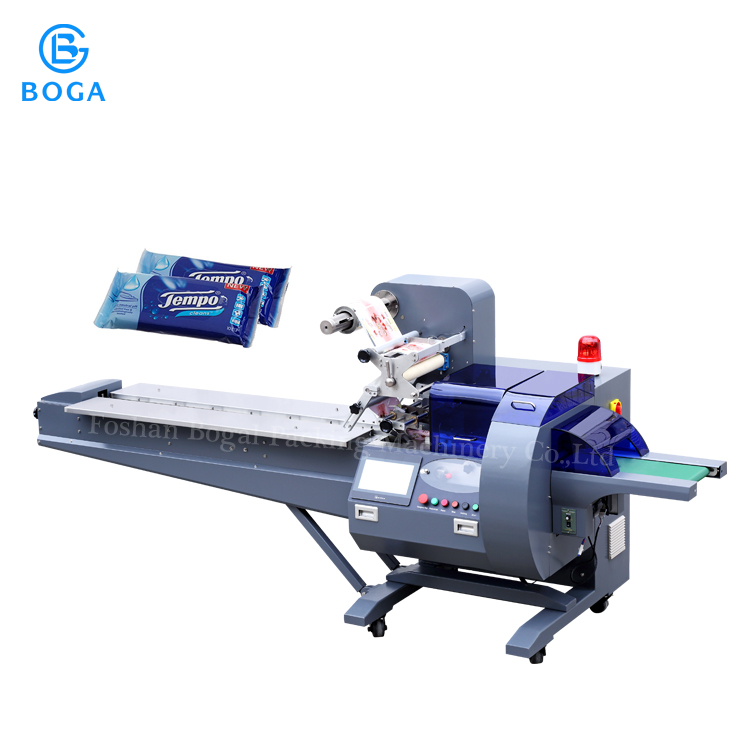 High speed wet wipe paper napkin facial tissue toilet paper packing machine