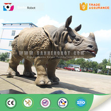 Southeast rhino and Africa Dicerorhinus animatronic real size and light weight to sale