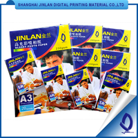 115gsm 135gsm 160gsm 200gsm 210gsm 230gsm 260gsm A3 A4 Inkjet Photo Glossy Paper Glossy Photo Paper