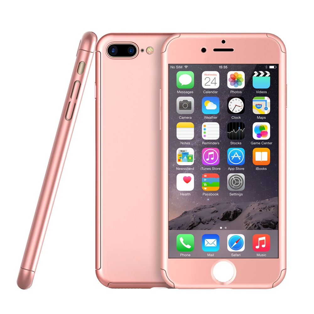 2016 Slim Hybrid Phone case with tempered glass protector for iPhone 7 7 plus