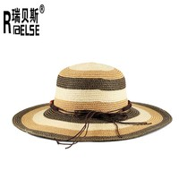 2015 new fashion promotion paper straw hat floppy beach lady hat wholesale