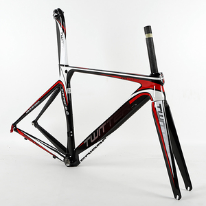 China new style fashional BB68 700C aluminum alloy road bicycle frame with full carbon fork