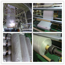 Clear poly sheeting roll for construction use