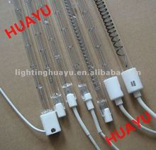 Transparent infrared oven lamps