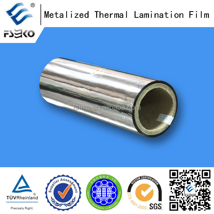laminated thermal film metalized/ Silver laminated thermal film