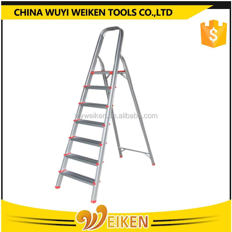new compact Two step household folding ladder with lower handle with cheap price