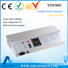 1500mg/h 220V AC Portable Ozone Generator for ozone water treatment